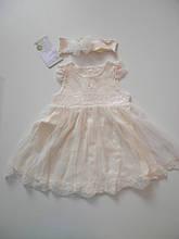 Хрестильне сукня+пов'язка ТМ Happy ToT