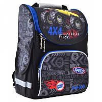 Ранец (рюкзак) - каркасный школьныйдля мальчика - черный Джип Монстер - трак, PG-11 Track, SmartСмарт 555999