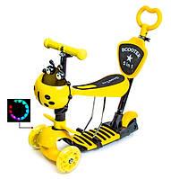 "Самокат Scooter ""Божья коровка"" 5in1 Yellow, фото 1"