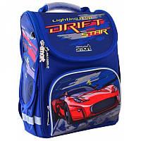 Ранец (рюкзак) - каркасный школьныйдля мальчика - синий Машина красная гонка, PG-11 Track, SmartСмарт 555985