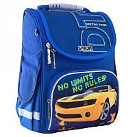 Ранец (рюкзак) - каркасный школьныйдля мальчика - синий Машина желтая гонка, PG-11 No Lim, SmartСмарт 555989
