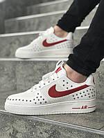 Мужские кроссовки Nike Air Force White\Чоловічі Кросівки Найк Аір Форс Білі\Найк аир Форс Белые