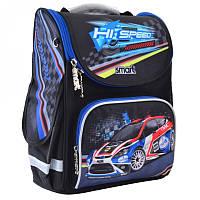 Ранец (рюкзак) - каркасный школьныйдля мальчика - черный Машина гонка, PG-11 Hi Speed, SmartСмарт 555979