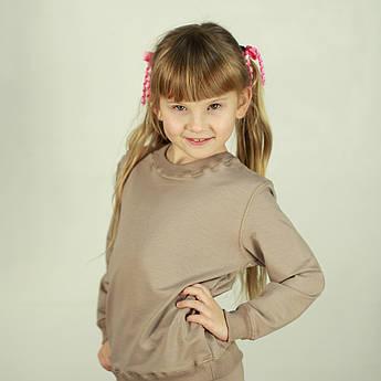 Детский спортивный костюм. Костюм однотонный детский цвета капучино | Костюм для дівчинки