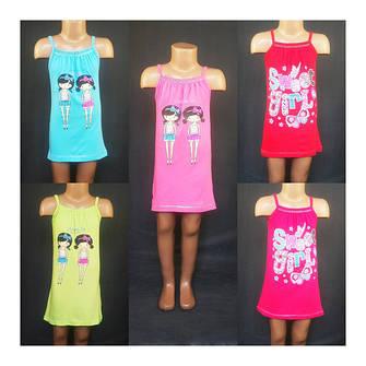 Распродажа. Одежда для девочек. Туники, сарафаны, футболки, костюмы.