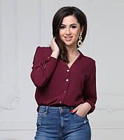 Женская стильная блузка с декольте  D6685 5 цветов, фото 1