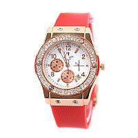 Часы женские Hublot 6582g-red копия-реплика швейцарских часов хаблот недорого
