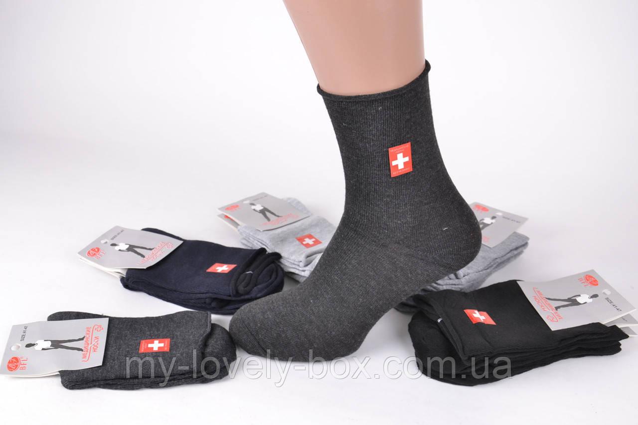 ОПТОМ.Мужские медицинские носки без резинки р. 41-47 (Арт.A333)   12 пар