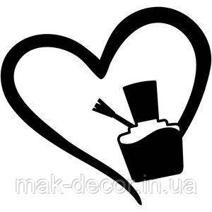 Виниловая наклейка - Лак в сердечке 40х40 см