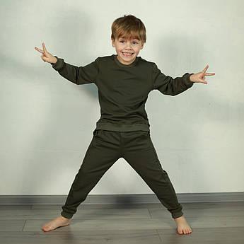 Детский спортивный костюм. Костюм однотонный детский Хаки | Костюм дитячий однотонний. Костюм для дівчинки