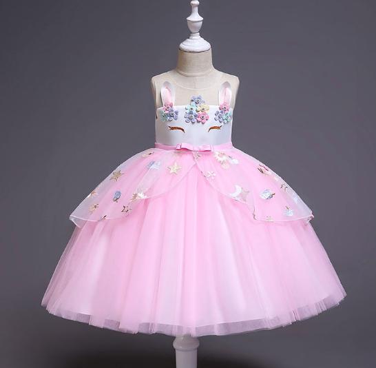 Плаття святкове дитяче дівчаче Феєрія рожеве Платье Единорог детское Ф