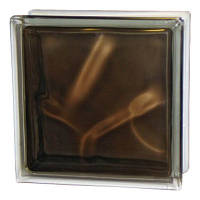 "Стеклоблок Brilly 1908\W Bronze ""Волна"" - Чехия, фото 1"