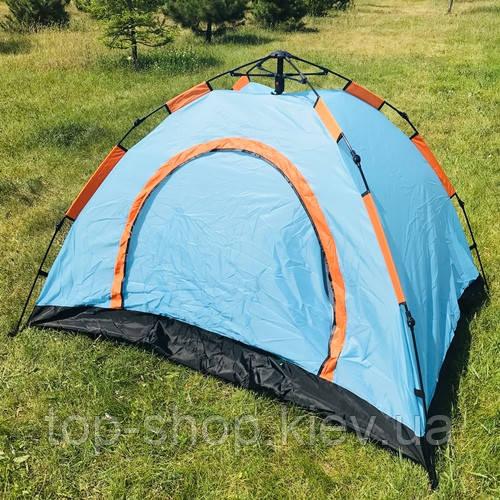 Палатка-автомат 3-местная 210х150х110 см, семейная трехместная палатка автоматическая для туризма