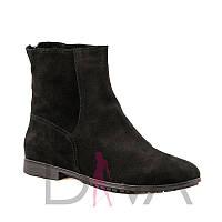 Стильные черные ботинки женские зимние 7003-black купить ботинки оптом дешево от производителя 2017