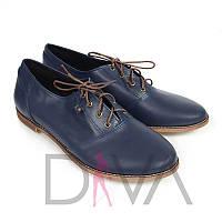 Туфли женские из натуральной кожи 50091blue купить женскую обувь оптом недорого
