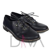 Черные туфли женские кожаные 50091black купить женскую обувь оптом недорого