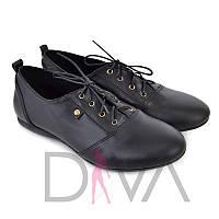 Недорогие туфли женские кожаные недорого Украина 5009black новинки женских туфель интернет-магазин обуви