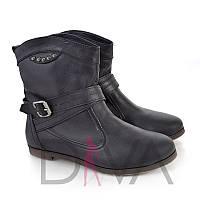 Стильные черные демисезонные женские ботинки 7004blackd купить женскую зимнюю и демисезонные обувь дешево