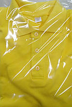 Футболки мужские Поло желтого цвета, хлопковые, 46 - 56 р
