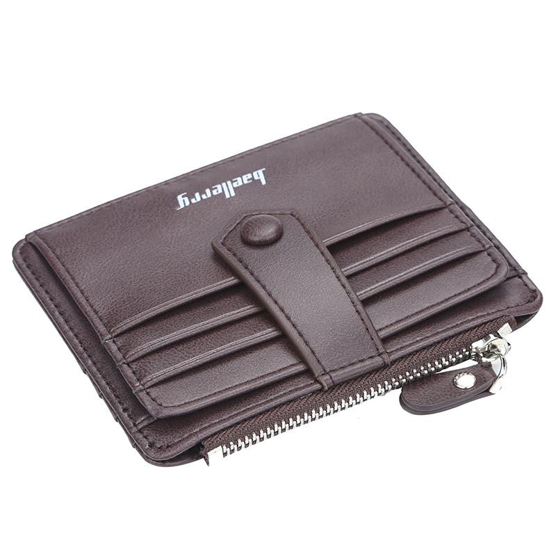 Чоловічий гаманець BAELLERRY Multi-Card Wallet Short портмоне Кавовий (SUN4542)