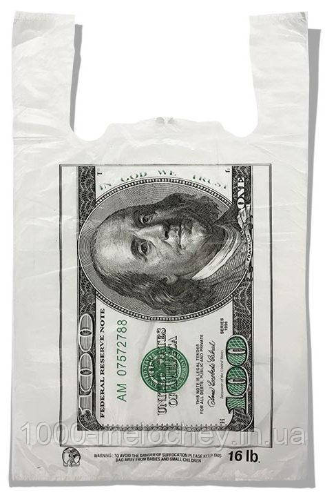 "Пакет-майка ""Dollar"" Золотий Перетин (29х46) 250 шт"