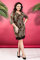 Платье женское батал леопард, фото 1