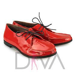 Красные лакированные туфли женские кожаные 5011-5red-L купить женскую обувь оптом недорого
