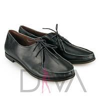 Черные туфли женские кожаные недорого Украина 5011-5black-K новинки женских туфель интернет-магазин обуви