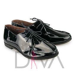 Модные женские туфли 2017 кожаные 5011-5black-L