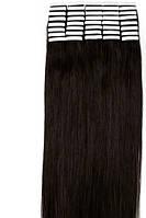 Волосы для ленточного наращивания 50см 20 прядей Черно-коричневые 1В