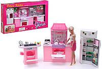 """Меблі для ляльок типу """"Барбі"""" кухня """"Gloria"""" 9986GB (6шт) холодильник, газ. плита, мийка, в кор. 56*32*10 см"""