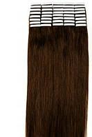 Волосы для ленточного наращивания 50см 20 прядей Коричневые