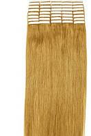 Волосы для ленточного наращивания 50см 20 прядей Золотистый блонд 24