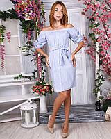 Платье рубашечного кроя высокого качества.