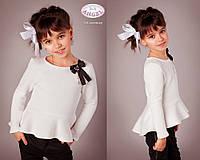 Кофта Baby Angel 521 с баской и брошью девочка трикотаж