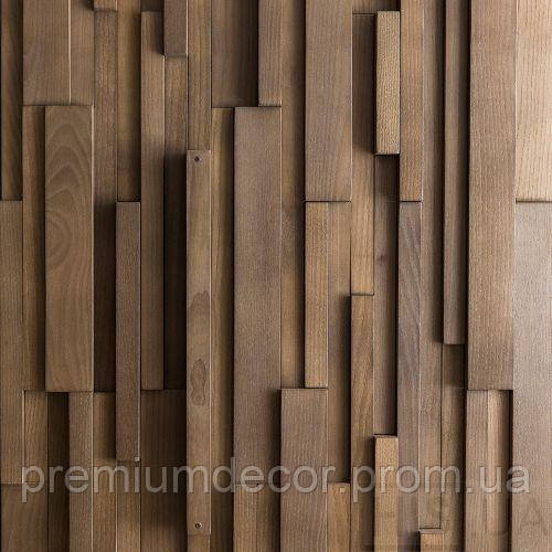 Деревянные 3Д панели стеновые АЛЬКАНЗАС мозаика с дерева дуб, ясень