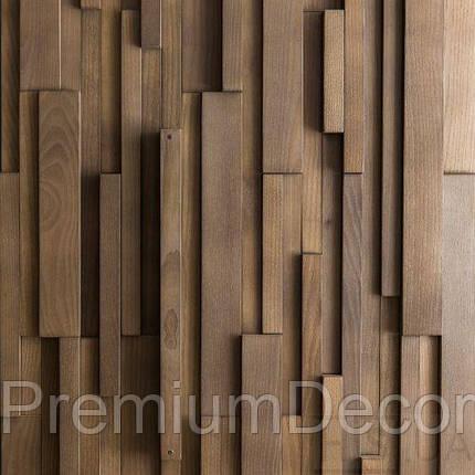 Деревянные 3Д панели стеновые АЛЬКАНЗАС мозаика с дерева дуб, ясень, фото 2