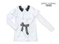 Рубашка Mone 1945 котон рюш бант клетка