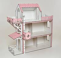 Кукольный домик для Барби NestWood Люкс плюс с лифтом без мебели (kdb002)