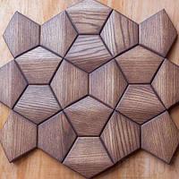 Деревянные 3Д панели стеновые АТЛАНТА мозаика с дерева дуб, ясень