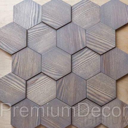 Деревянные 3Д панели стеновые БОСТОН мозаика с дерева дуб, ясень, фото 2