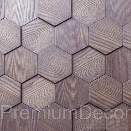 Деревянные 3Д панели стеновые БОСТОН мозаика с дерева дуб, ясень