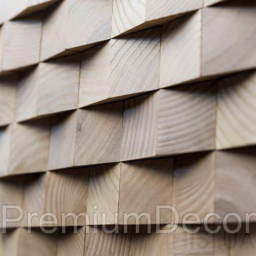 Деревянные 3Д панели стеновые ГЕОРГИЯ мозаика с дерева дуб, ясень