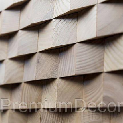 Деревянные 3Д панели стеновые ГЕОРГИЯ мозаика с дерева дуб, ясень, фото 2