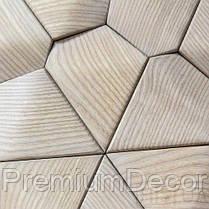 Деревянные 3Д панели стеновые ДЕНВЕР мозаика с дерева дуб, ясень, фото 3