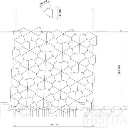 Деревянные 3Д панели стеновые ДЕНВЕР мозаика с дерева дуб, ясень, фото 2
