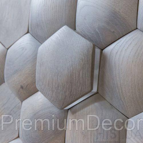 Деревянные 3Д панели стеновые ДАЛЛАС мозаика с дерева дуб, ясень