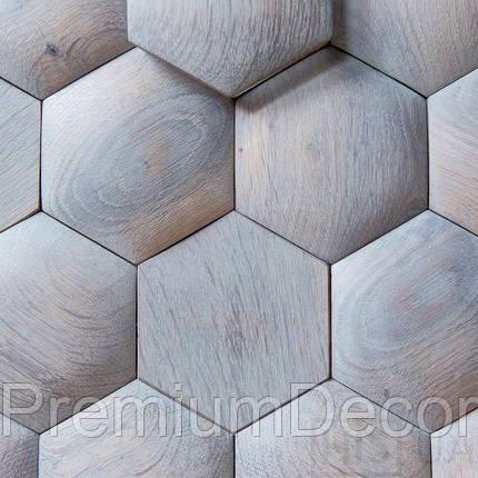 Деревянные 3Д панели стеновые ДАЛЛАС мозаика с дерева дуб, ясень, фото 2