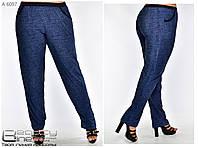 Летние женские брюки для полных женщин Размеры 54-56, 58-60,62-64