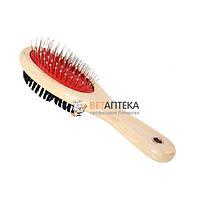 Расческа -щетка деревянная двусторонняя 22*6 см FOX 423В